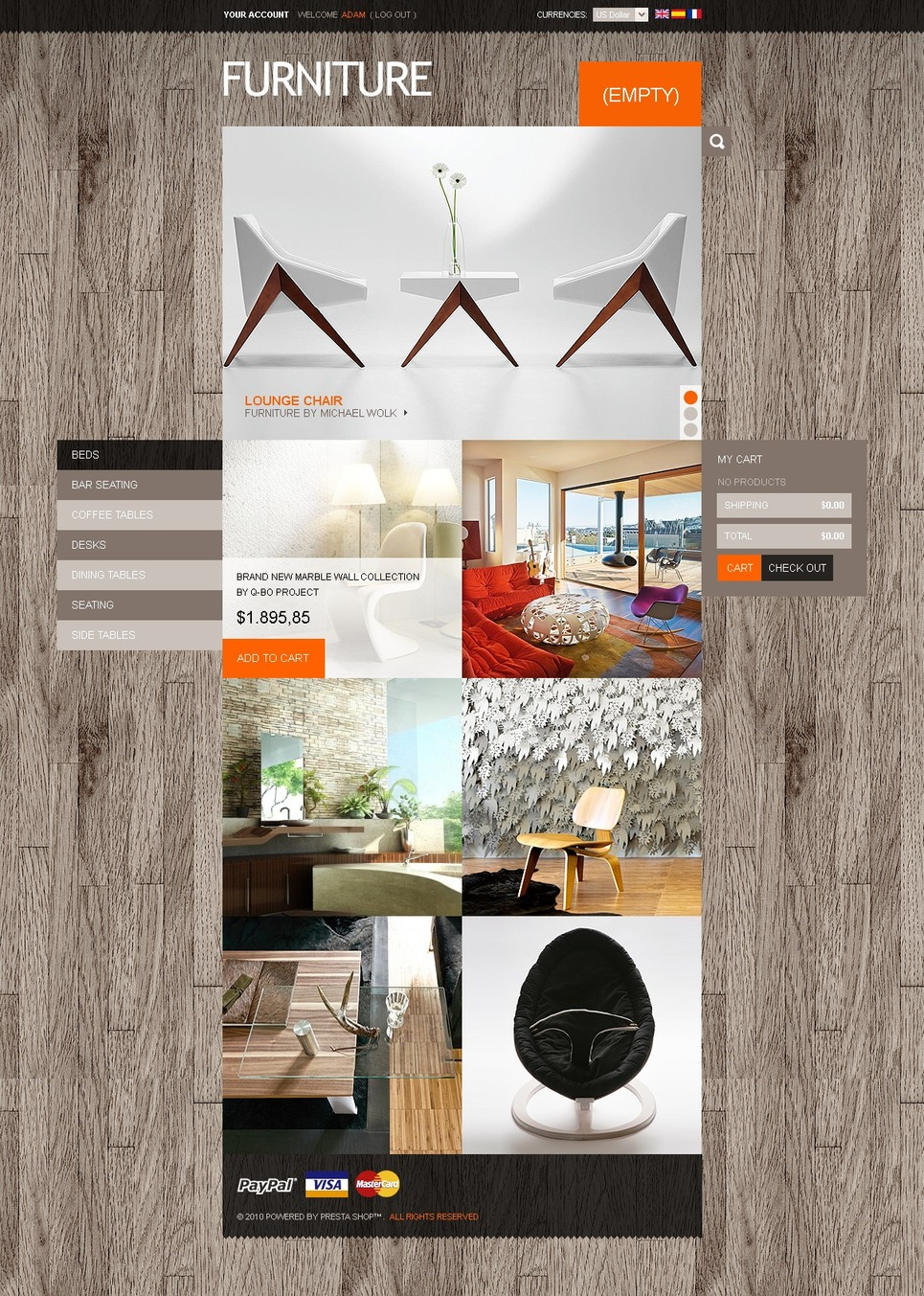 Furniture online PrestaShop Theme New Screenshots BIG
