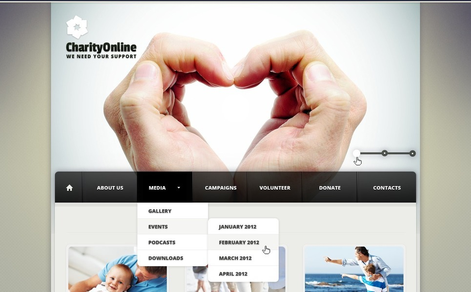 Charity Joomla Template New Screenshots BIG
