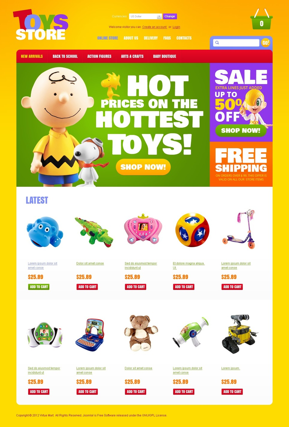 Toys for Beloved Kids VirtueMart Template New Screenshots BIG