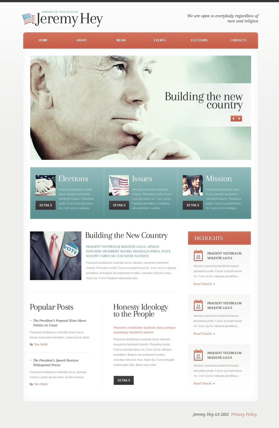 Political Candidate WordPress Theme New Screenshots BIG