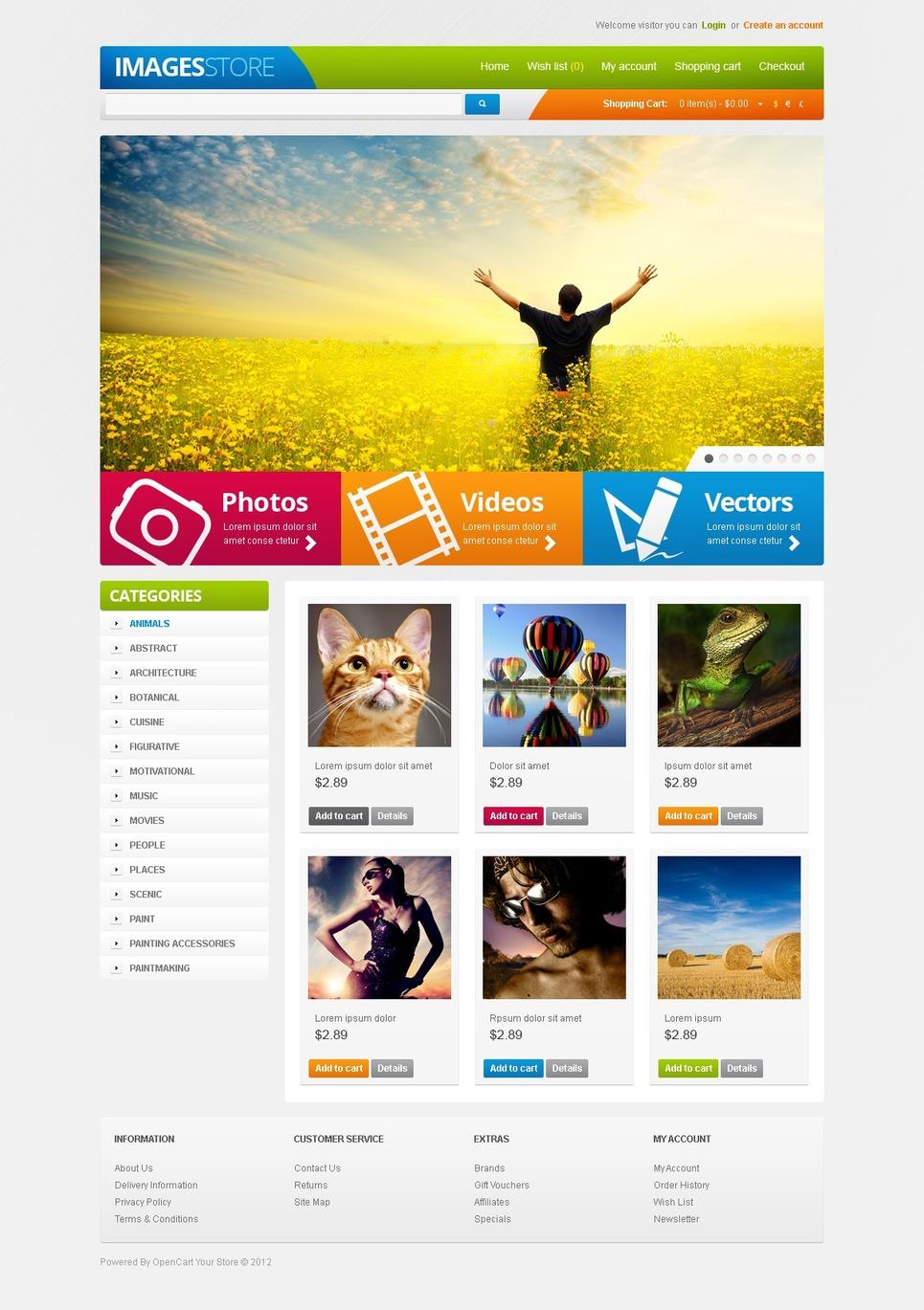 Visual Content OpenCart Template New Screenshots BIG
