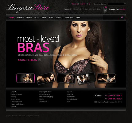 Lingerie store - Sexy Magento Lingerie Store Theme
