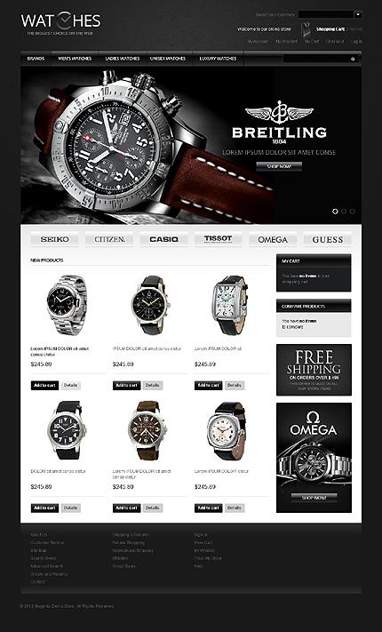 Watches - Decent Watches Magento Theme