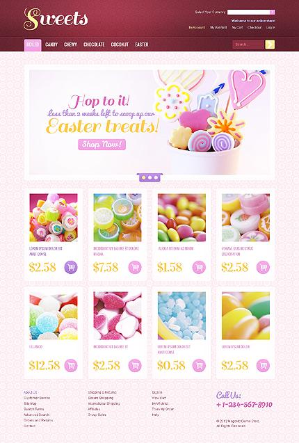 Sweet shop - Savoury Sweet Shop Magento Theme