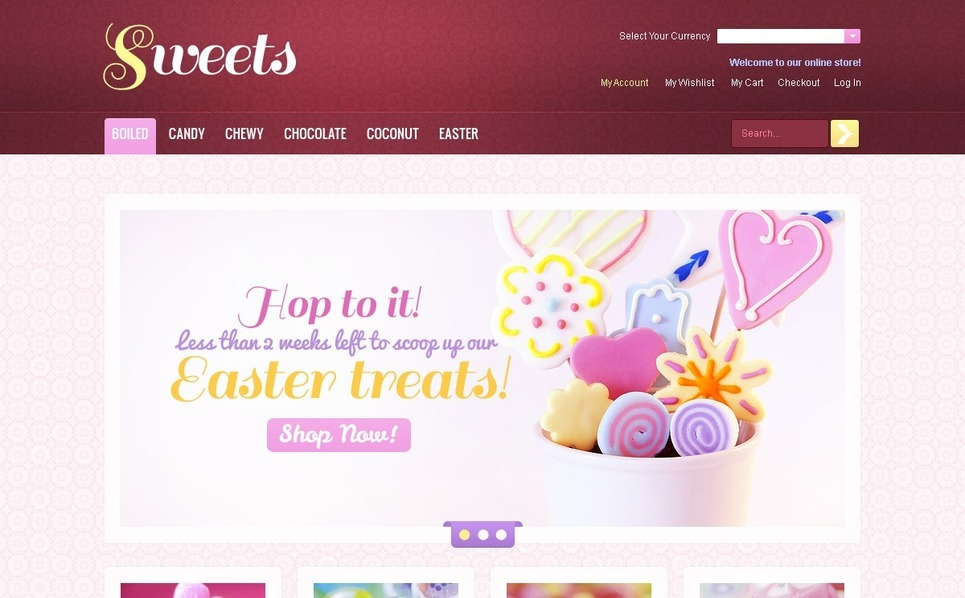 Sweets for Any Taste Magento Theme New Screenshots BIG