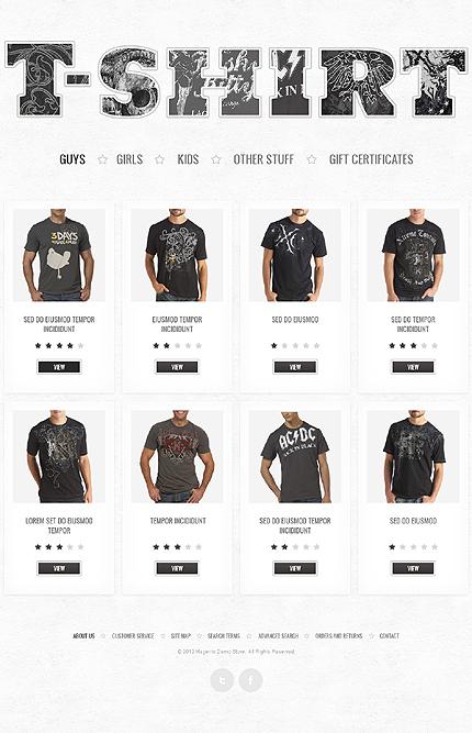T-shirt guys - Luxurious T-shirts Magento Theme