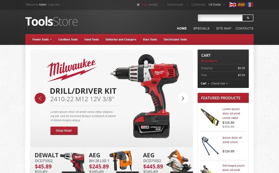 Mighty Tools Magento Theme New Screenshots BIG