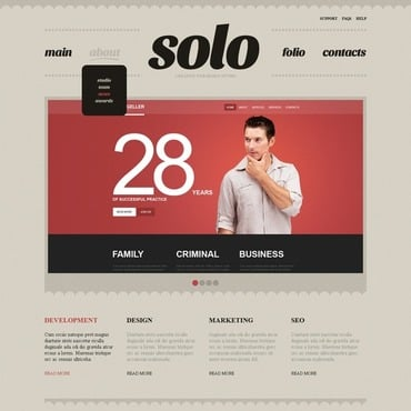 Web Development Joomla Template