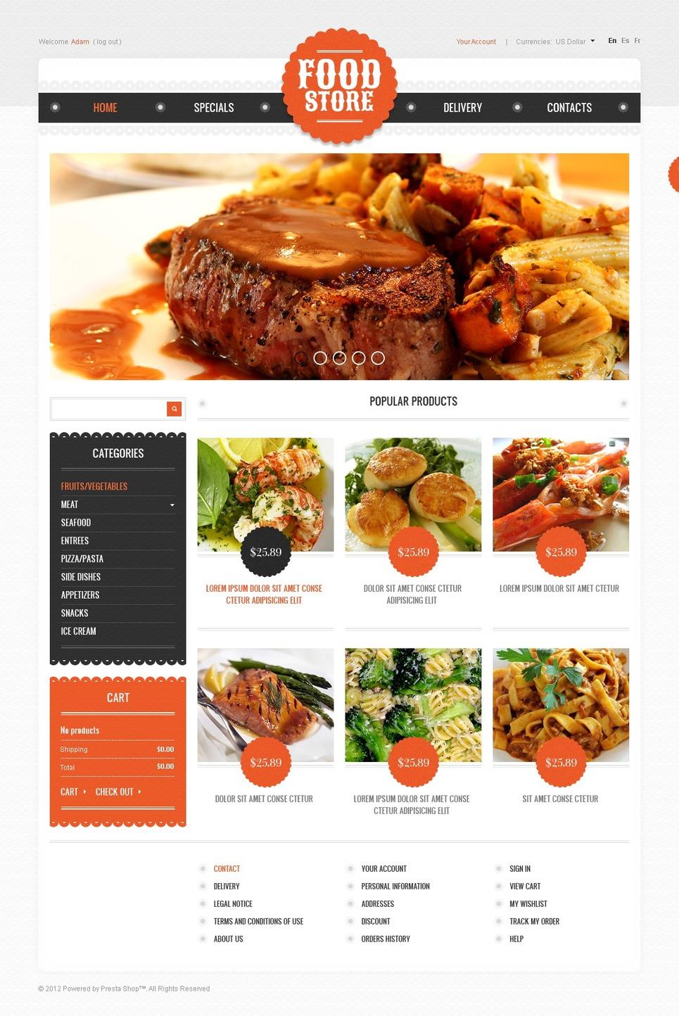 Food Market PrestaShop Theme New Screenshots BIG