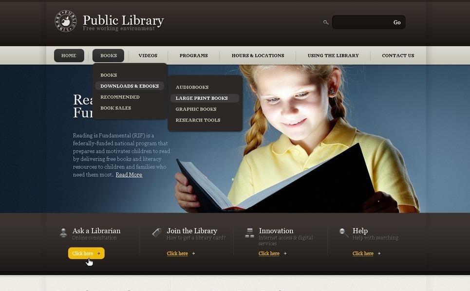 Library Website Template New Screenshots BIG
