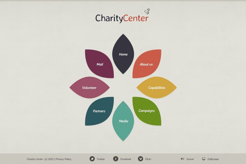 Charity Flash Template New Screenshots BIG