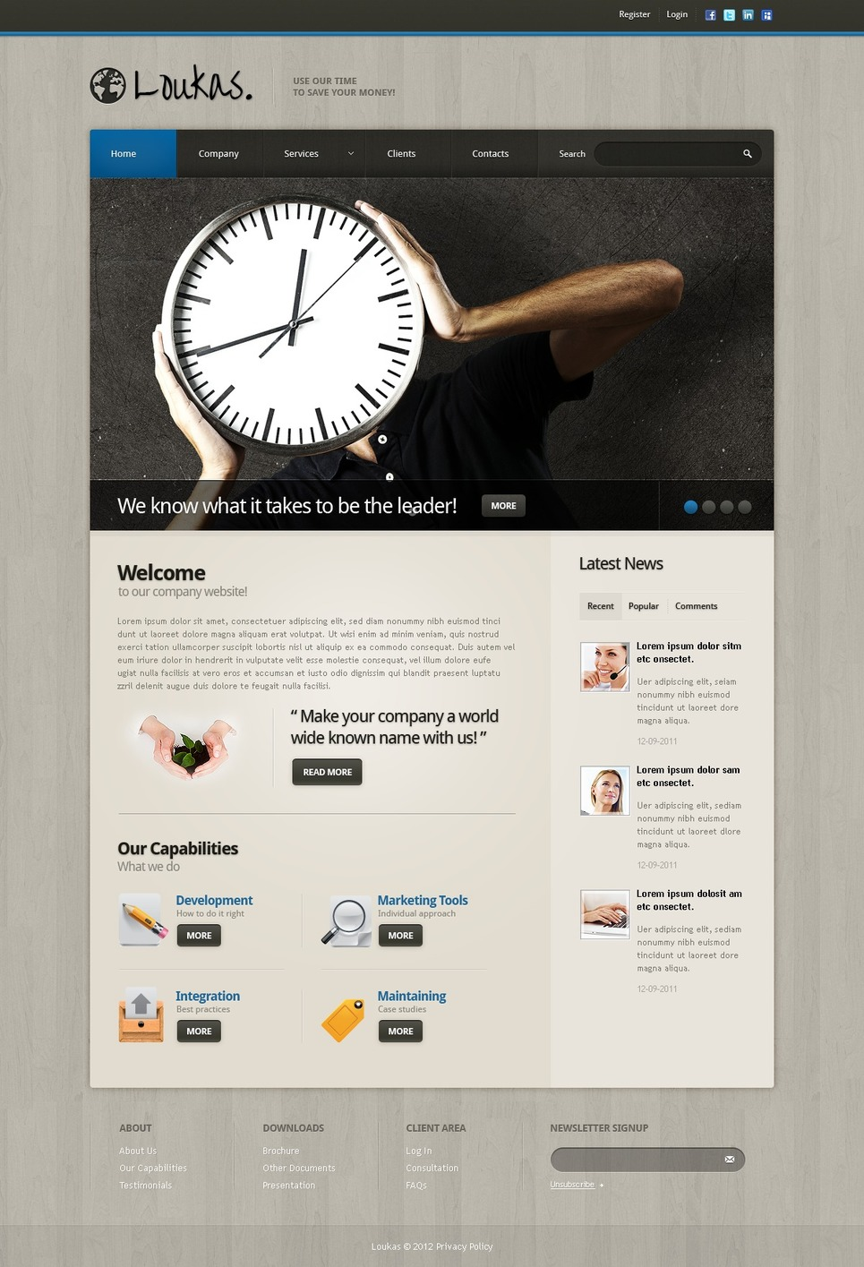 Financial Advisor Website Template New Screenshots BIG