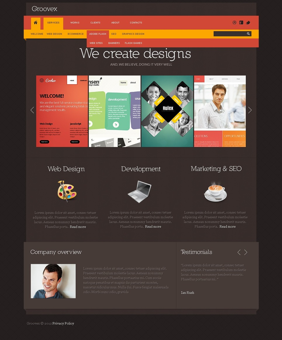 Web Development Website Template New Screenshots BIG