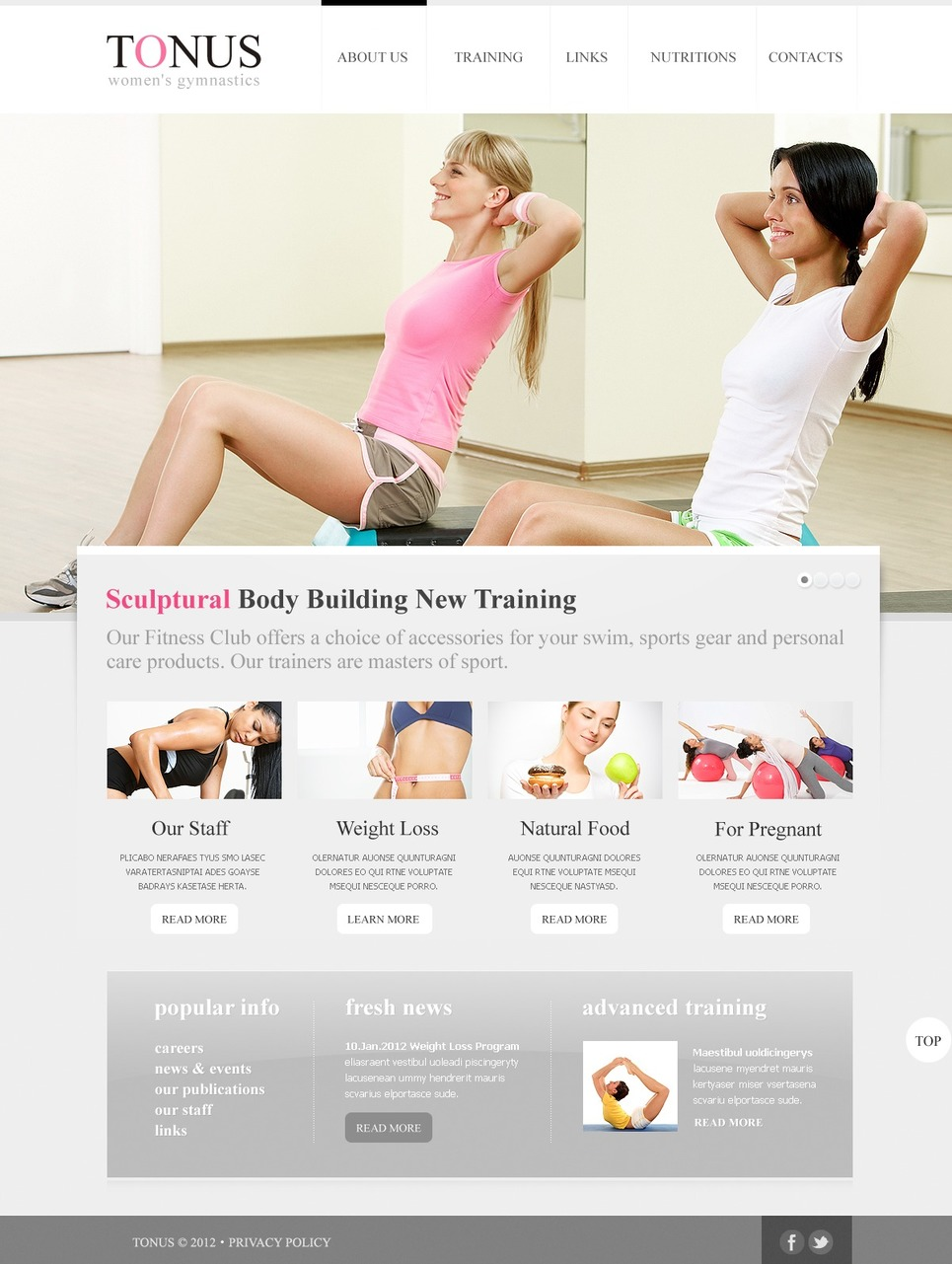 Fitness Website Template New Screenshots BIG