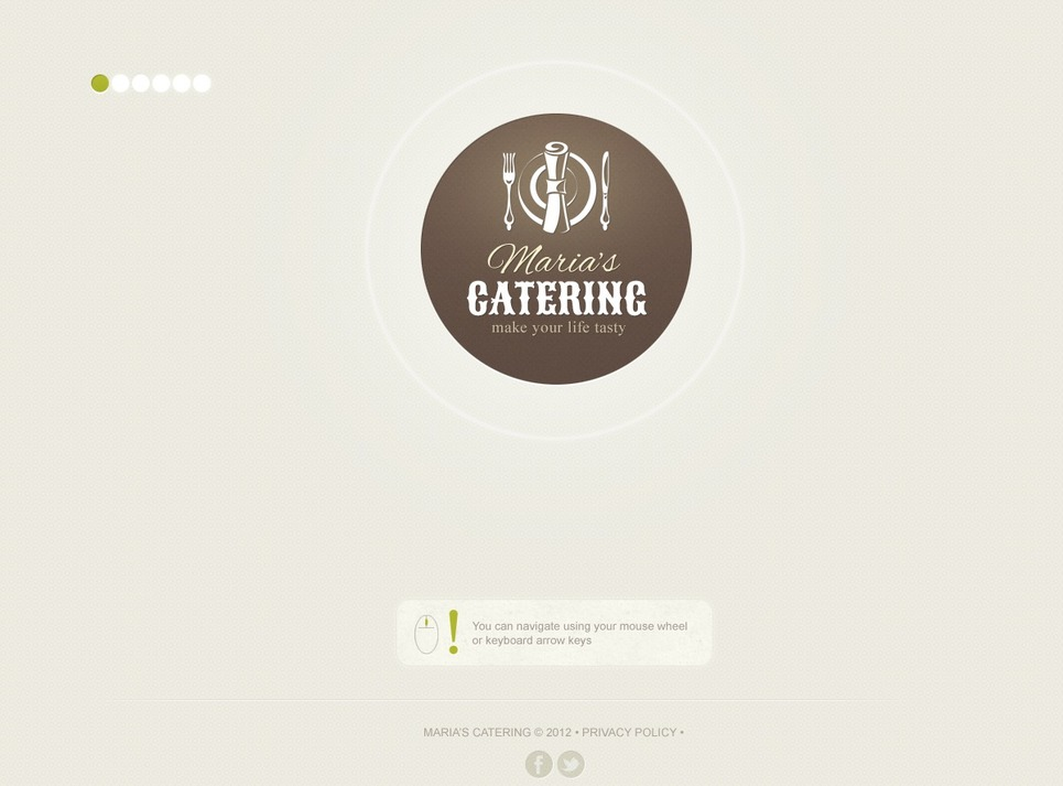 Catering Website Template New Screenshots BIG