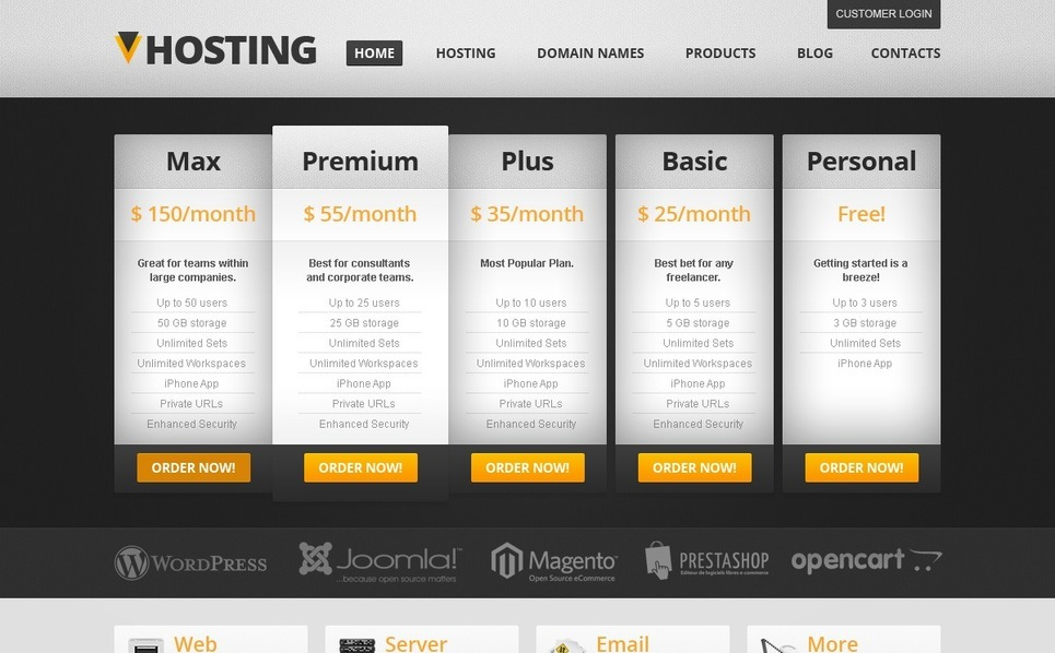Hosting WordPress Theme New Screenshots BIG