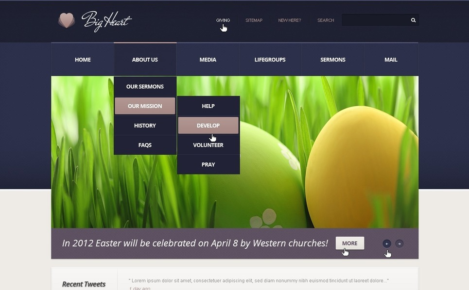 Religious WordPress Theme New Screenshots BIG