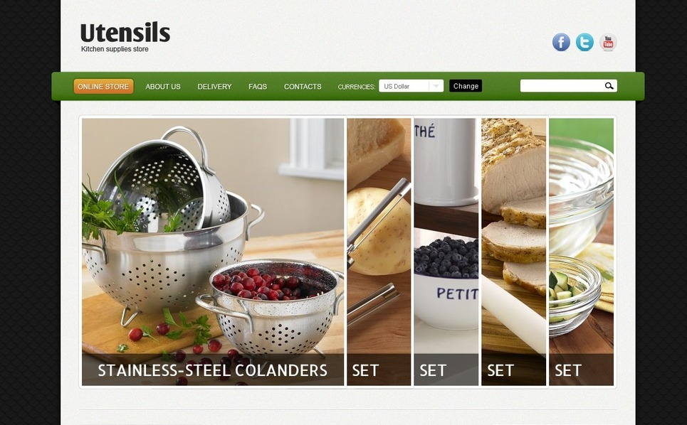 Kitchen Utensils VirtueMart Template New Screenshots BIG