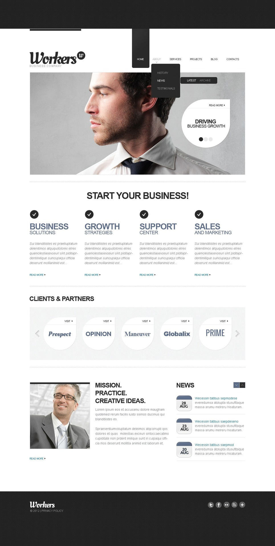 Management Company Drupal Template New Screenshots BIG