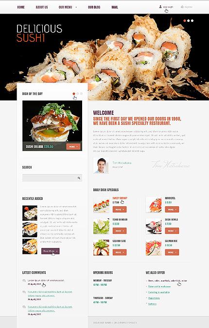 Seafood - Restaurant Drupal Template