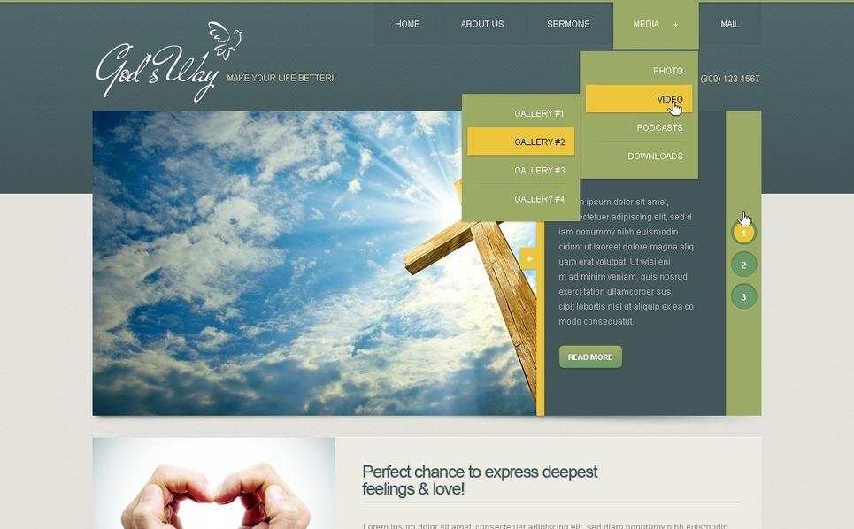 Christian Drupal Template New Screenshots BIG