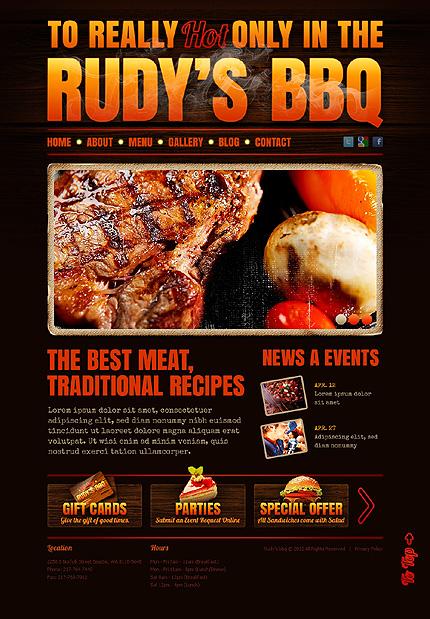 BBQ - Restaurant Drupal Template