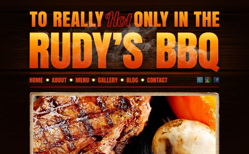 BBQ Restaurant Drupal Template New Screenshots BIG
