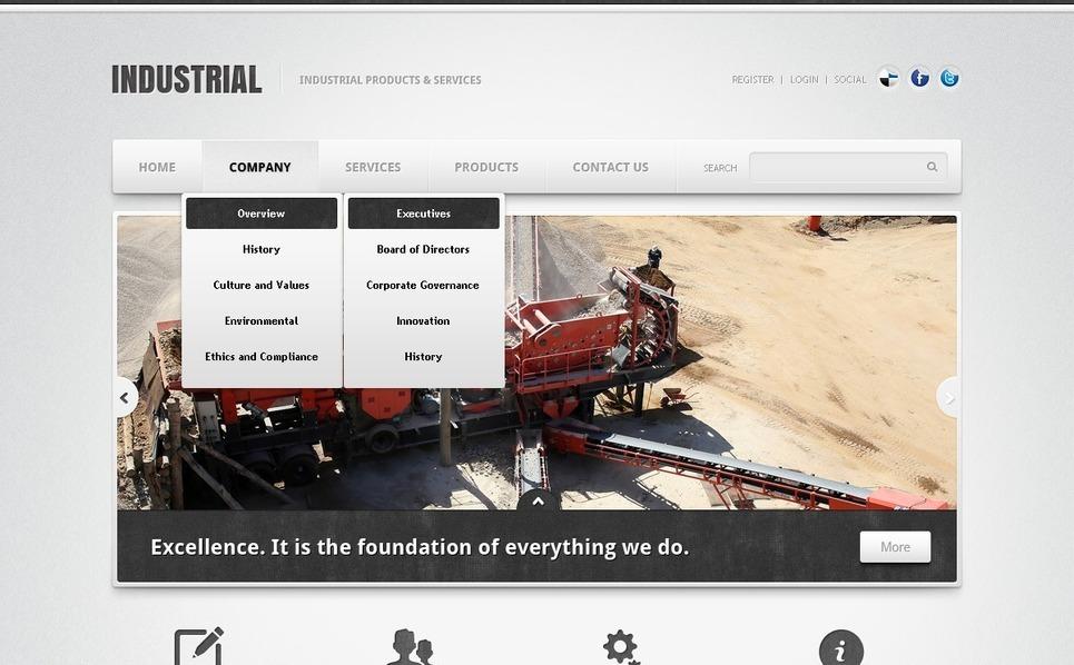 Industrial Responsive Website Template New Screenshots BIG