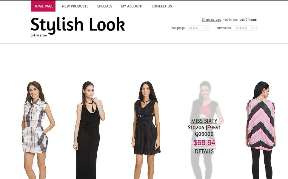Trendy Clothes OsCommerce Template New Screenshots BIG