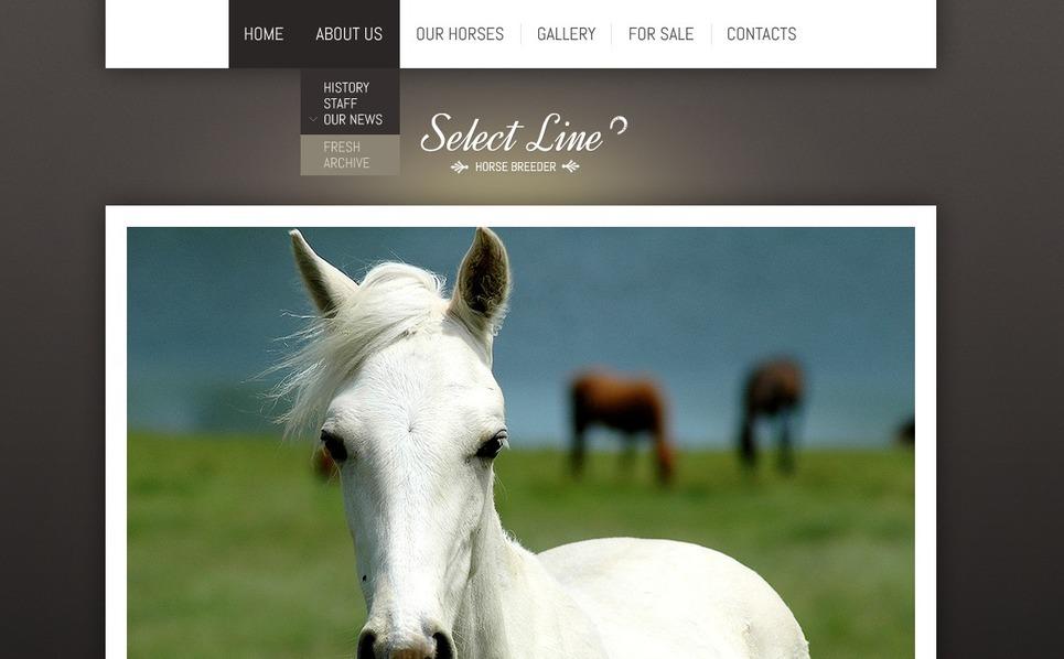 Horse Website Template New Screenshots BIG