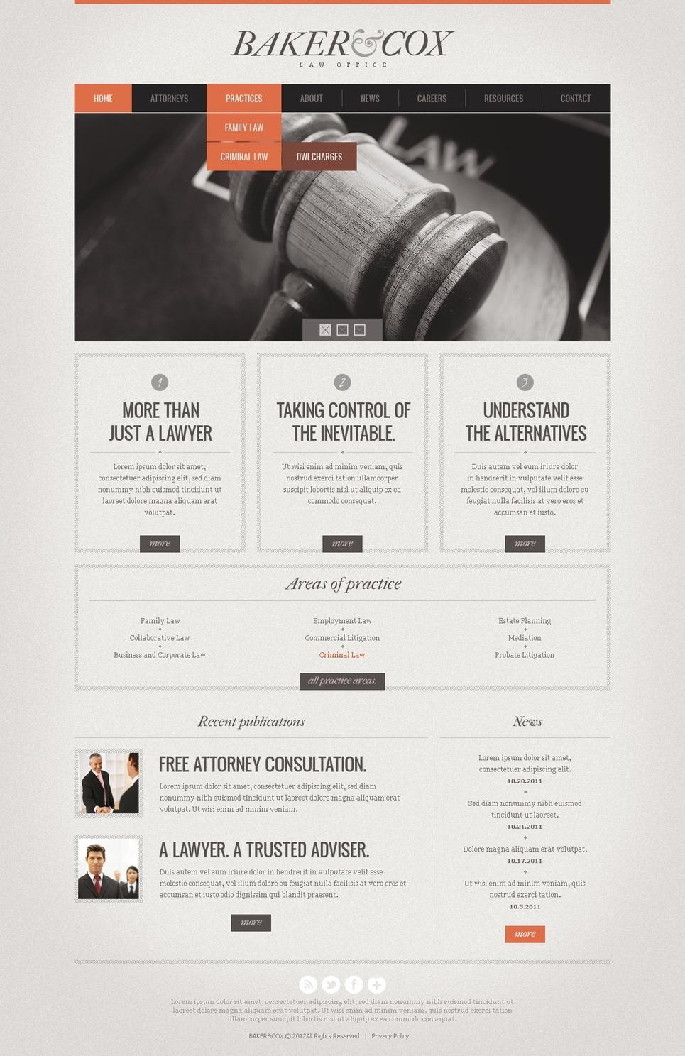 Law Website Template New Screenshots BIG