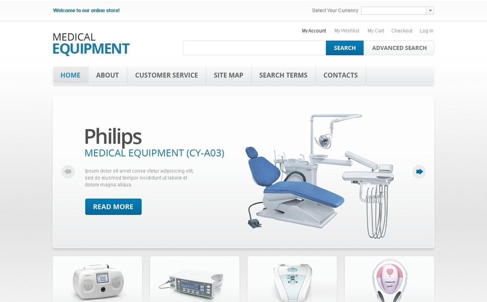 Medical Equipment Magento Theme New Screenshots BIG