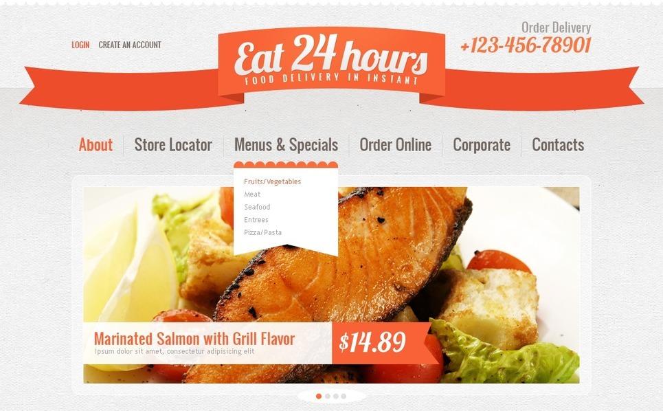 Catering Website Template New Screenshots BIG