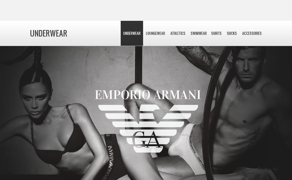 Underwear Store Magento Theme New Screenshots BIG