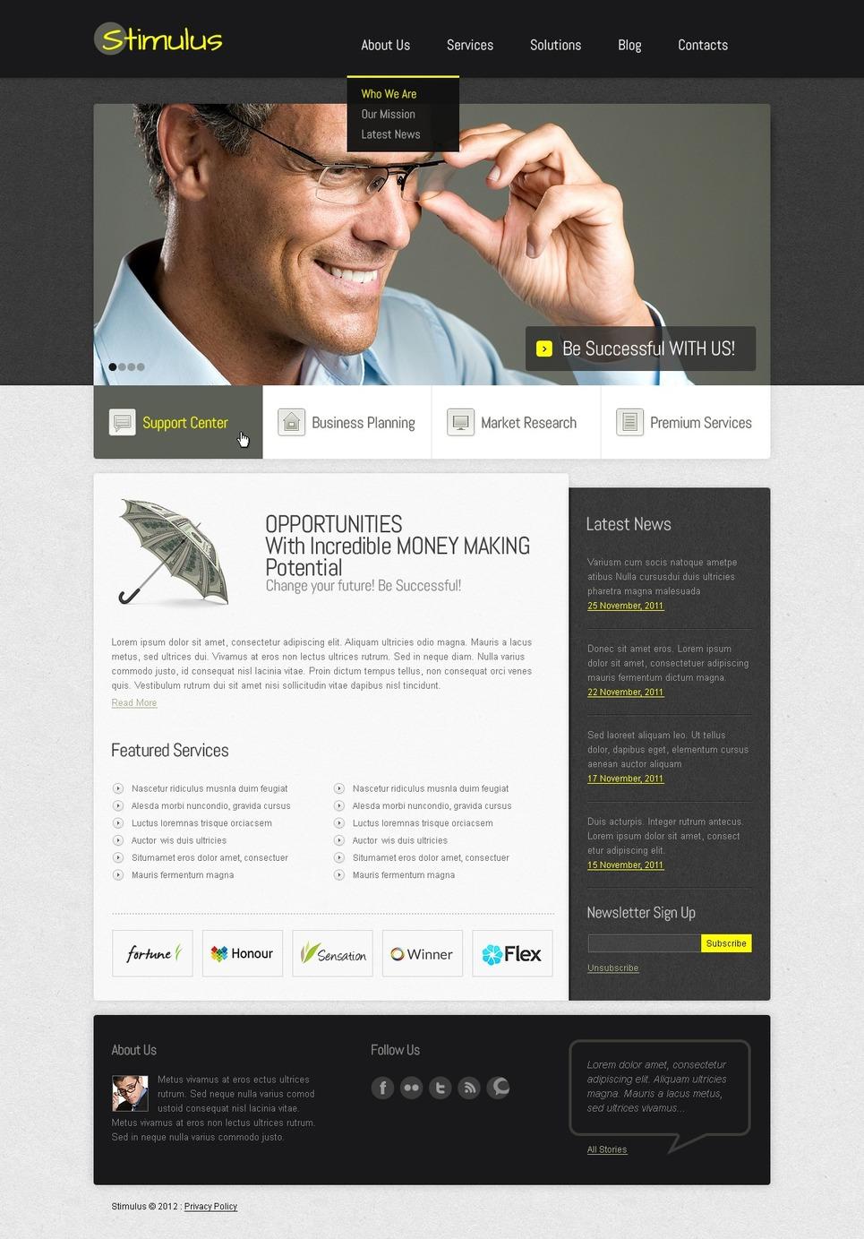 Financial Advisor Joomla Template New Screenshots BIG