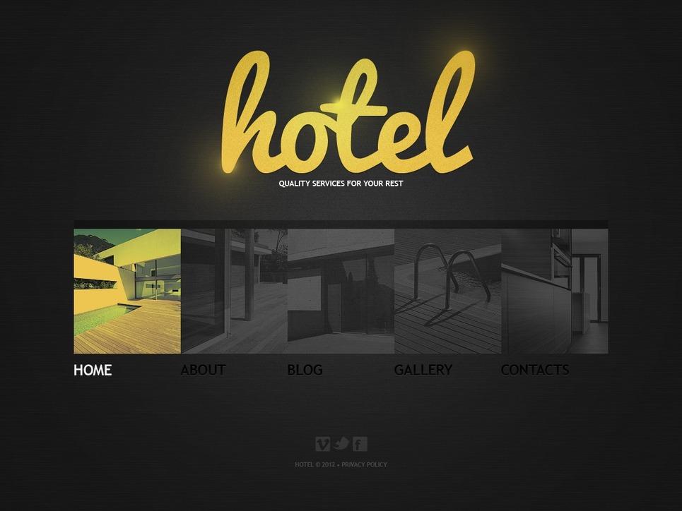 Hotels WordPress Theme New Screenshots BIG