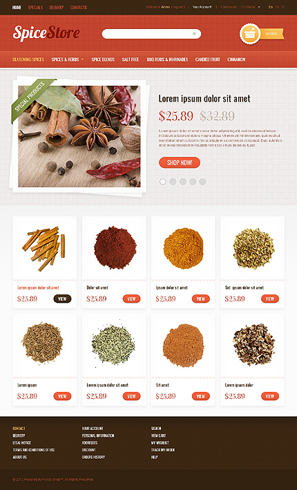 Spices shop - Peculiar Spice Store PrestaShop Theme