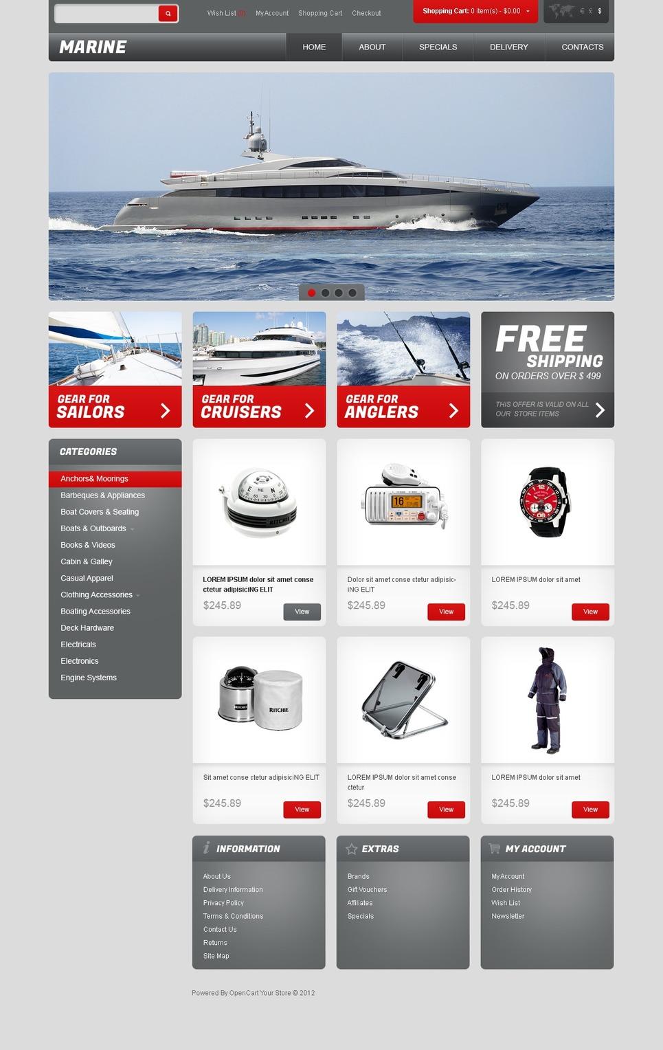 Marine Equipment OpenCart Template New Screenshots BIG