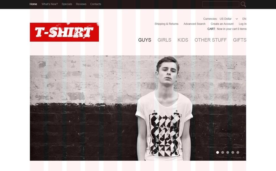 Crazy T-Shirts OsCommerce Template New Screenshots BIG