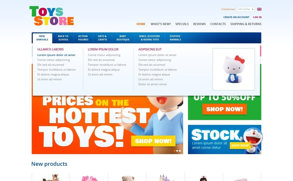 Toys for Fun and Education OsCommerce Template New Screenshots BIG