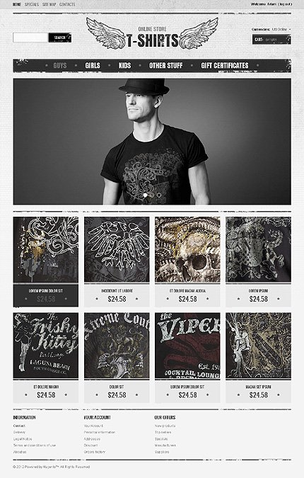 Online store t-shirt - Aesthetic T-shirts Store Magento Theme