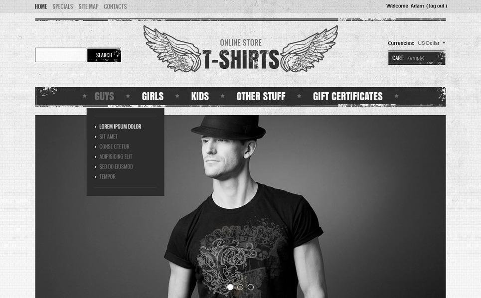 Stylish T-Shirts Magento Theme New Screenshots BIG