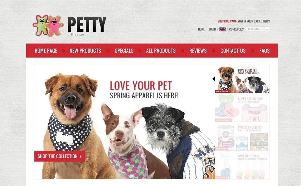 Pet Store ZenCart Template New Screenshots BIG