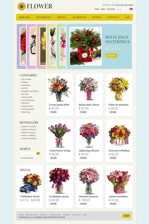 Flowers Online ZenCart Template New Screenshots BIG
