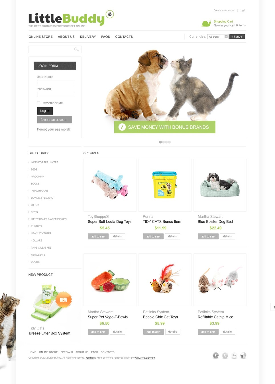 Products for Pets VirtueMart Template New Screenshots BIG