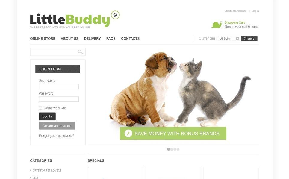Products for Pets VirtueMart Template New Screenshots BIG