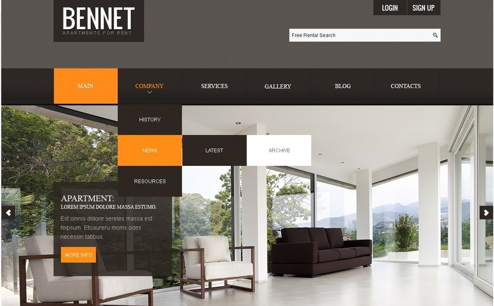 Real Estate Agency Joomla Template New Screenshots BIG