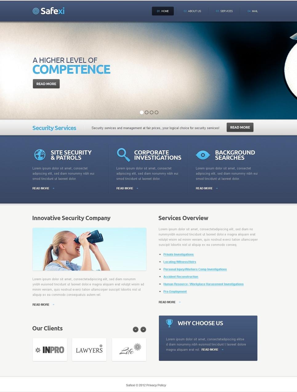 Information Security Website Template New Screenshots BIG