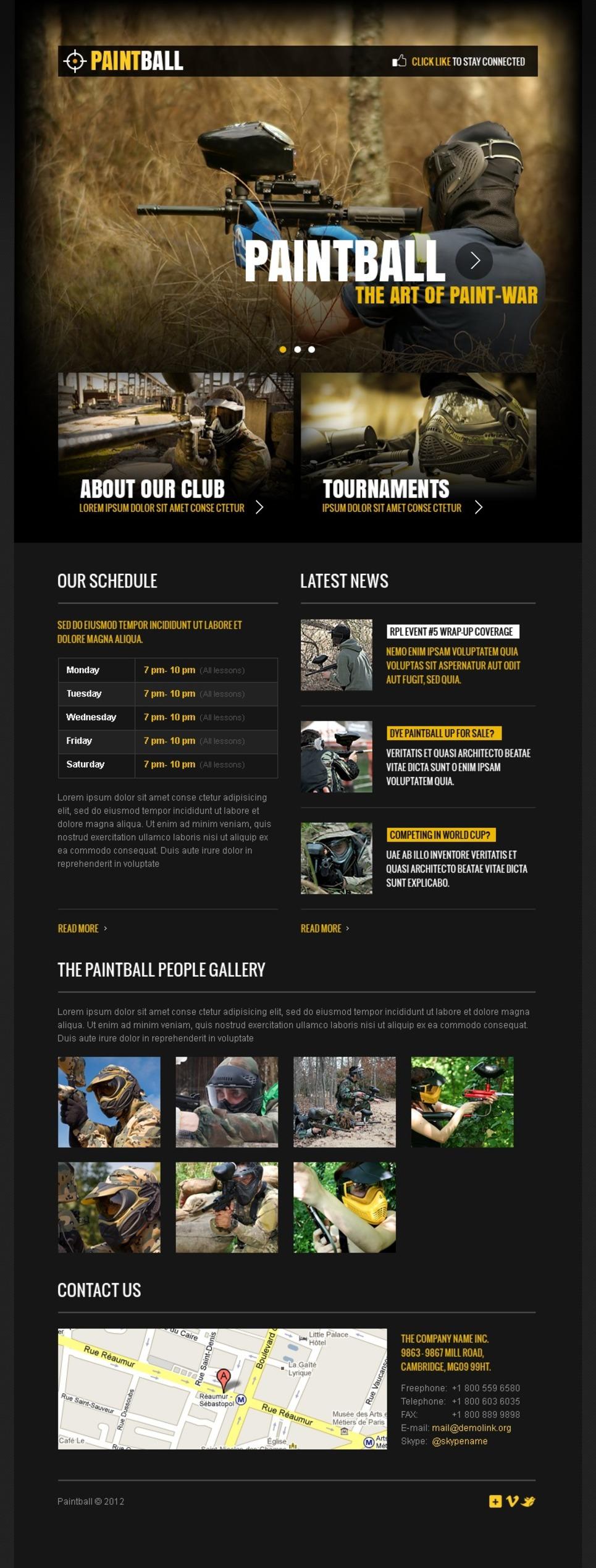 Paintball Facebook Template New Screenshots BIG