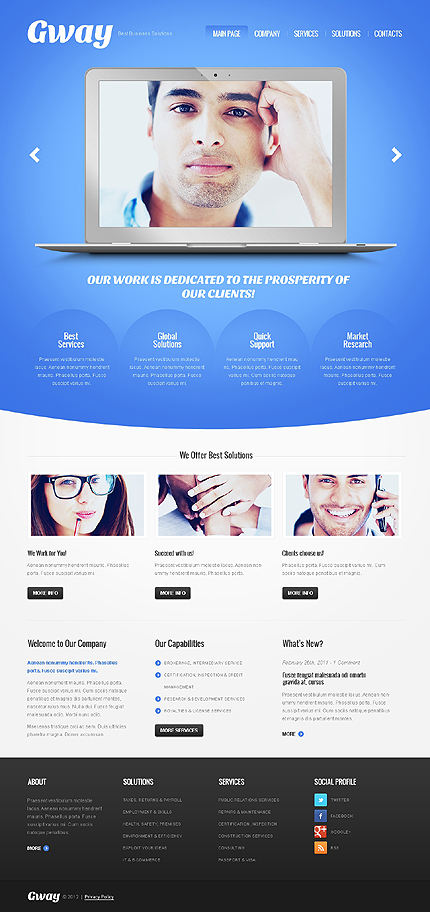 View live Demo for Gway – Fully Responsive WordPress Theme for Business Websites